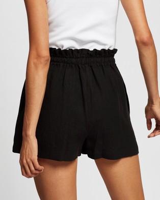 AERE Drawcord Shorts High-Waisted Black