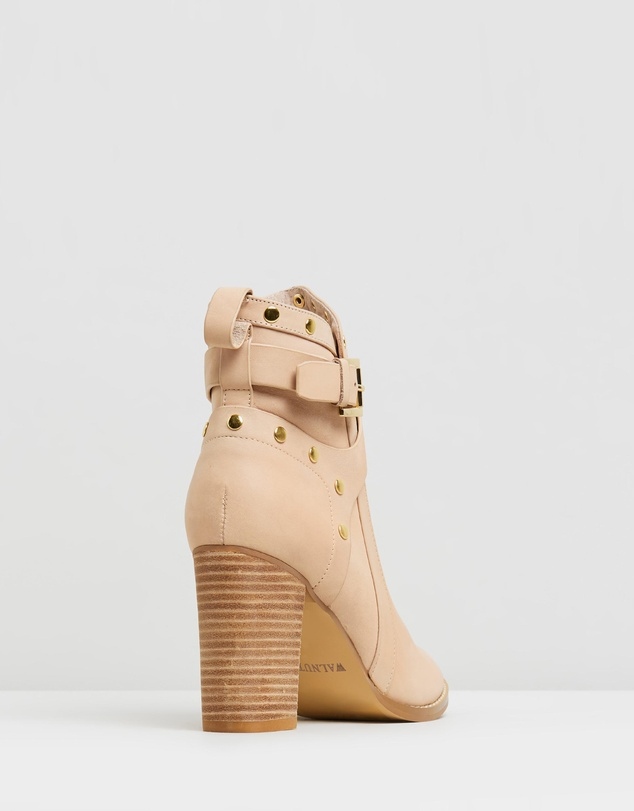 Walnut Melbourne - Gigi Leather Strap Boots