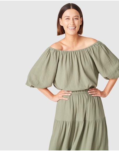 French Connection - Off Shoulder Cotton Top