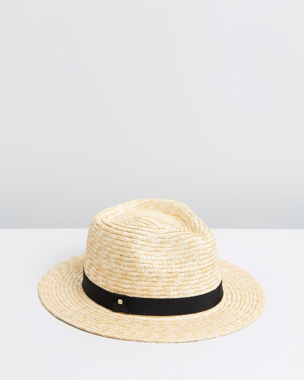 Ace Of Something Eros Straw Fedora Hats Natural & Black