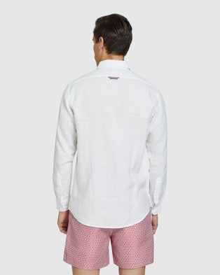 Oxford Holloway Pure Linen Shirt - Casual shirts (White)