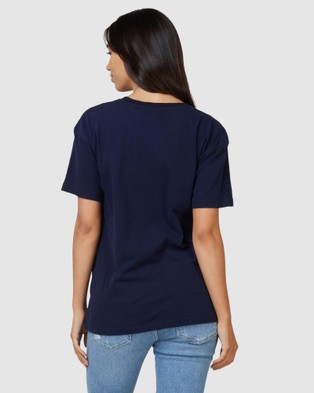 Superdry SDRY Panel Tee - T-Shirts (Rich Navy)