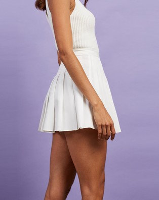 Dazie Happier Co. Pleated Tennis Skirt - Pleated skirts (White)