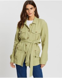 AERE - Belted Jacket With Pockets