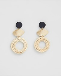 TOPSHOP - Raffia Drop Earrings