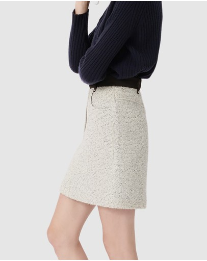 Maje Jadka Skirt Greywhite