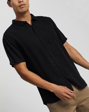 Silent Theory Union Short Sleeve Shirt - Shirts & Polos (WASHED BLACK)