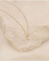 By Charlotte - 14k Sweet Droplet Diamond Necklace
