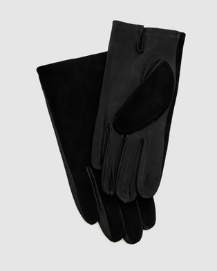 Kate & Confusion Aspen Suede and Leather Gloves - Outdoor Gloves (Black)
