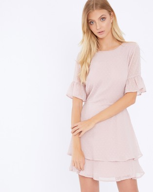 Calli – Blaire Layered Frill Dress Pink