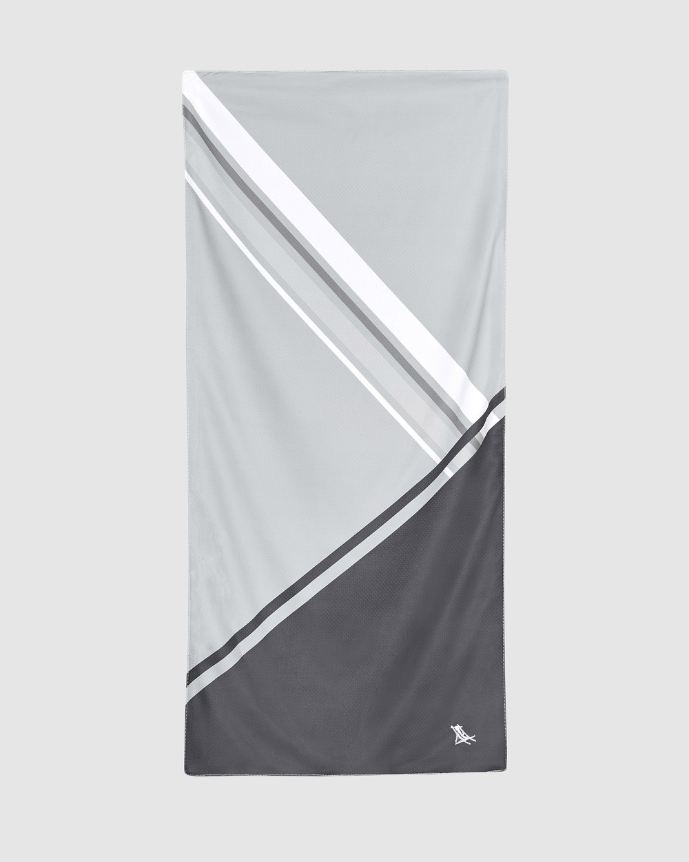 Dock & Bay Cooling Towel 100% Recycled Go Faster Collection Gym Yoga Grey