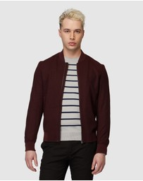 Jack London - Burgundy Bomber Jacket