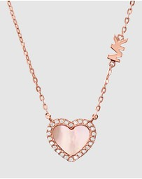 Michael Kors - Love Pave and Mother of Pearl Heart Necklace