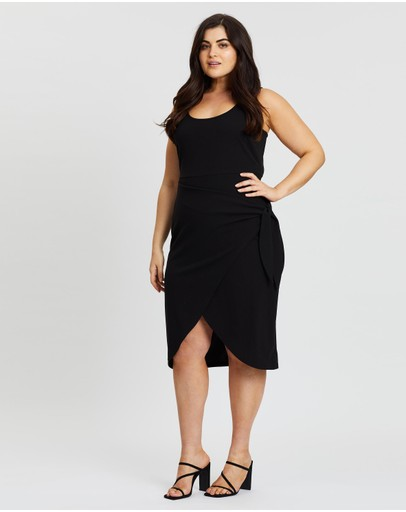 Atmos&Here Curvy - Tani Mock Wrap Dress