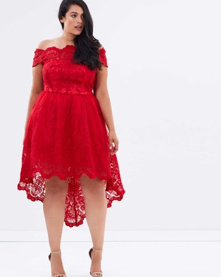 Chi Chi Curve – Astrid Dress – Dresses (Red)