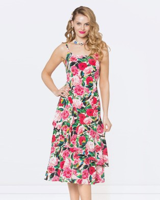 Alannah Hill – Lock And Key Dress Multi/Pink
