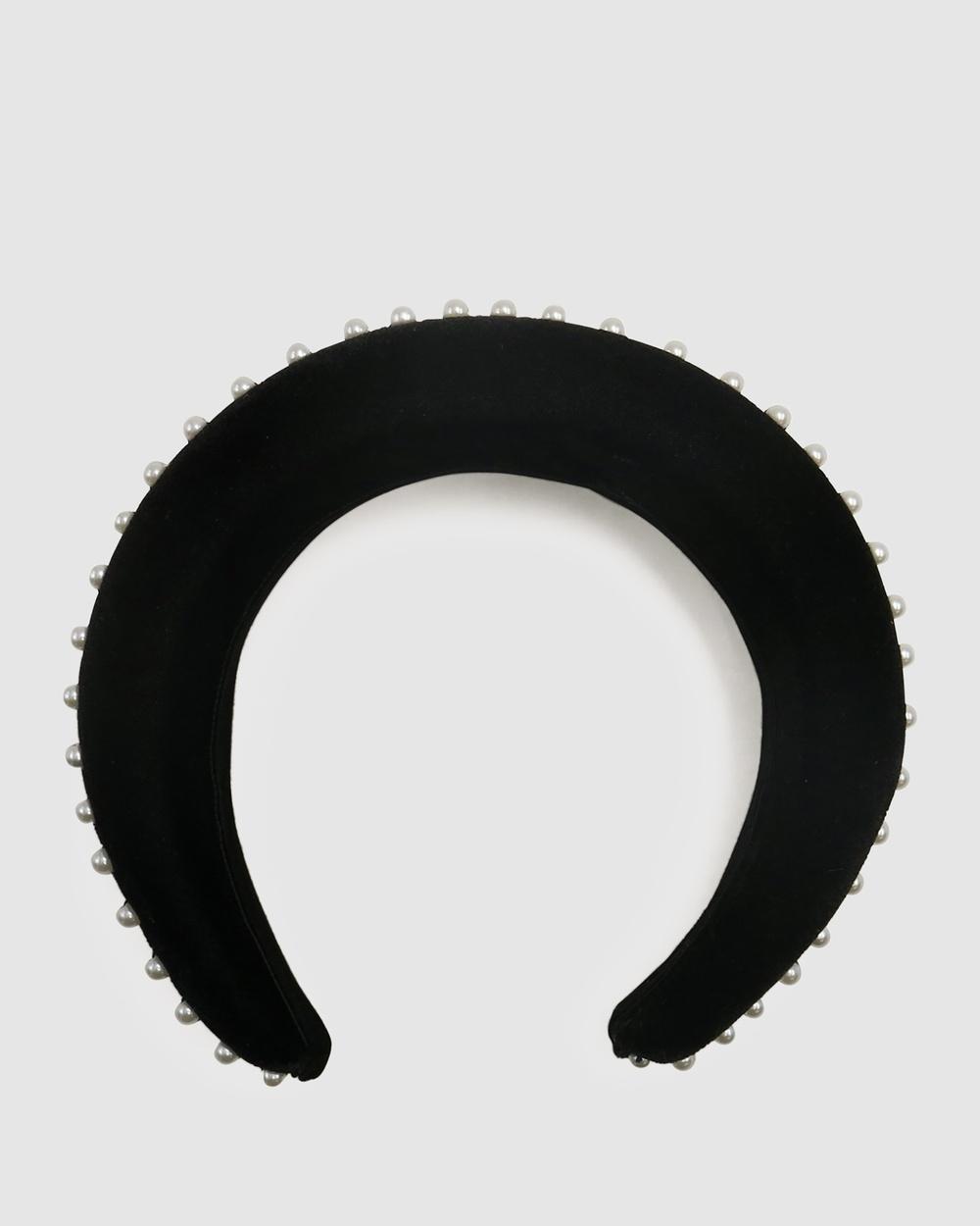 Morgan & Taylor Rania Headband Fascinators Black