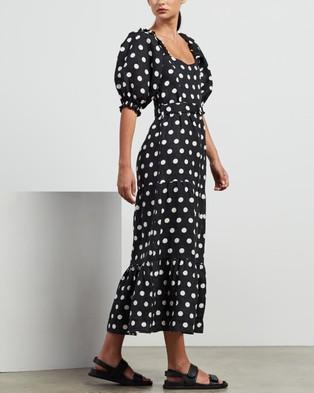 Faithfull The Brand Rumi Midi Dress - Printed Dresses (Emelda Dot Print)