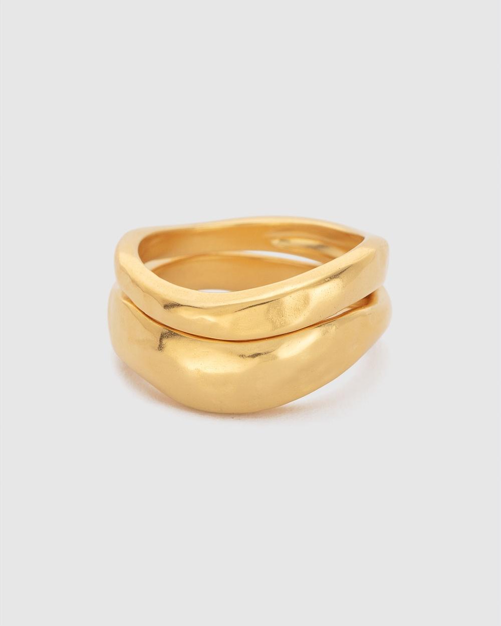 Kirstin Ash Essence Stacking Ring Set Jewellery Gold