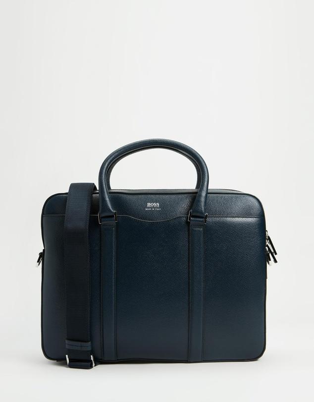 Men Signature Collection Bag in Grained Palmellato Leather