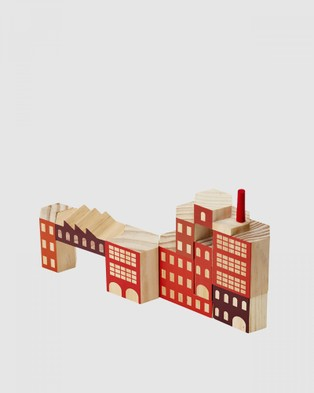 Areaware Blockitecture Factory Classic Set - Accessories (Red)