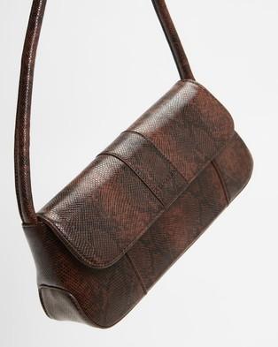 Brie Leon The Camille - Handbags (Dark Brown Snake Skin)