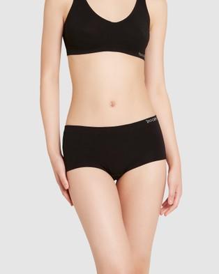 Boody Organic Bamboo Eco Wear 3 Pack Boyleg Briefs - Briefs (Black)
