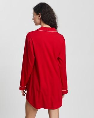 Atmos&Here Soft Sleep Shirt Sleepwear Red
