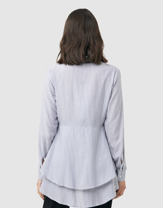 Ripe Maternity - Stripe Layered Peplum Shirt