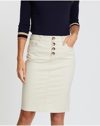 Sportscraft - Milano Button Skirt