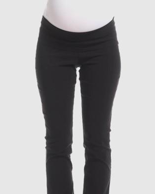 Soon Maternity Flora Slim Straight Maternity Pants - Pants (Black)