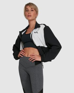 RVCA Woven Track Jacket - Coats & Jackets (BLACK)