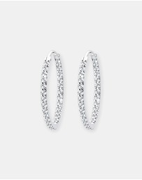 Elli Jewelry - Earrings 925 Sterling Silver Glamor Hoop Swarovski® Crystals