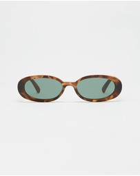 Le Specs - Outta Love Brown Tort 90s Sunglasses
