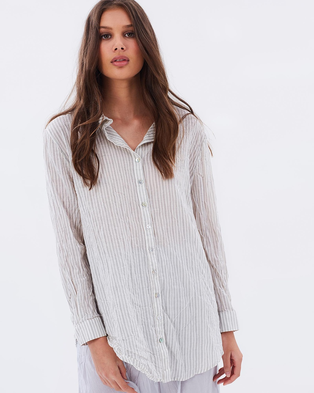 Primness Liv Shirt Tops Fine Stripe Liv Shirt