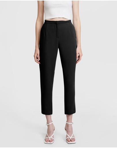 Aris Slim Leg Trousers Black