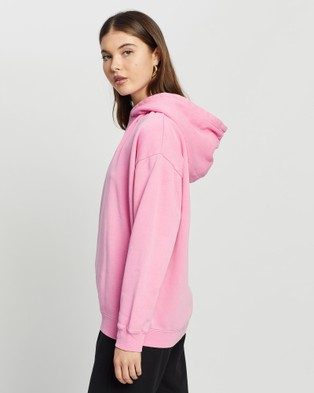 All About Eve - Delux Oversized Hoodie Hoodies (Pink)