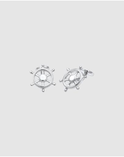 Kuzzoi Cufflinks Anchor Maritime Ocean Hanseatic In 925 Sterling Silver