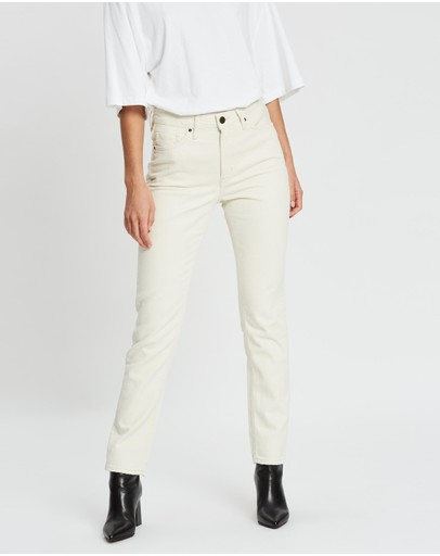 American Vintage 5 Pockets Mom 7/8 Jeans Ecru