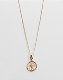 Chained & Able - St Christopher Mini Medallion Necklace