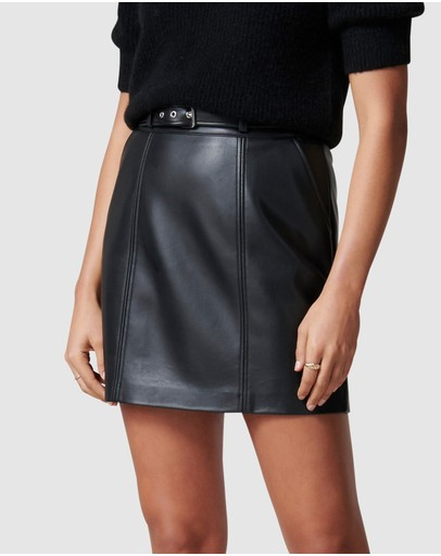 Forever New - Ava Belted Vegan Leather Mini Skirt