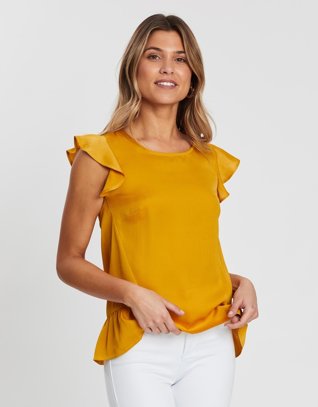 Atmos&Here - Joanne Flutter Sleeve Top