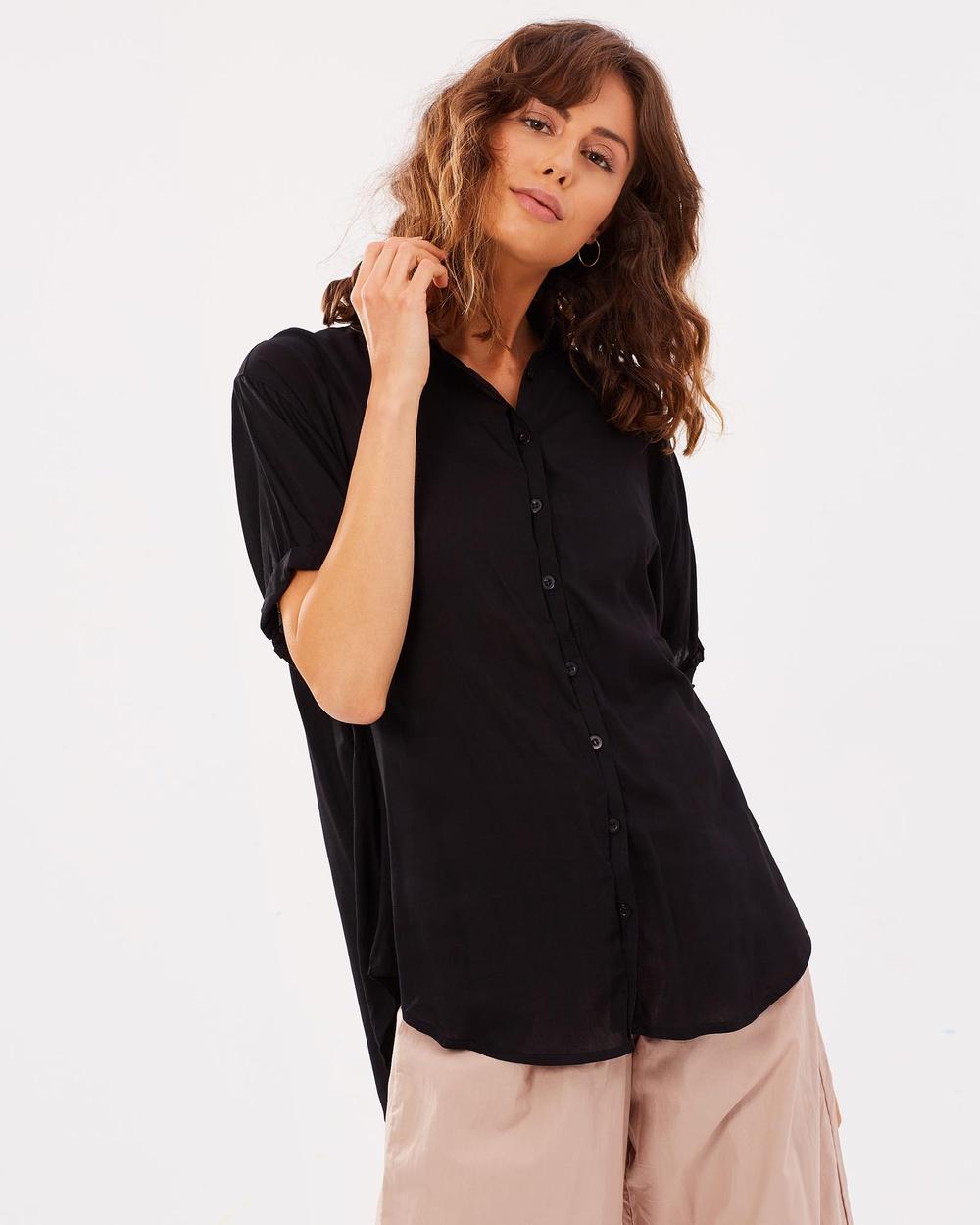 Lilya Hutton Shirt Tops black Hutton Shirt