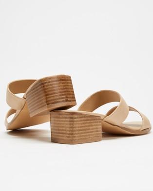 SPURR Lucie Wide Comfort Heels - Sandals (Nude Smooth)