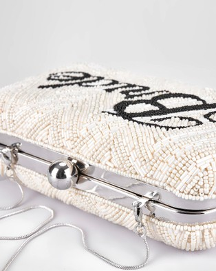 From St Xavier Bride Box Clutch - Clutches (Ivory/Black)