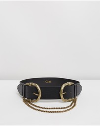 Camilla - Double Croc Leather Belt
