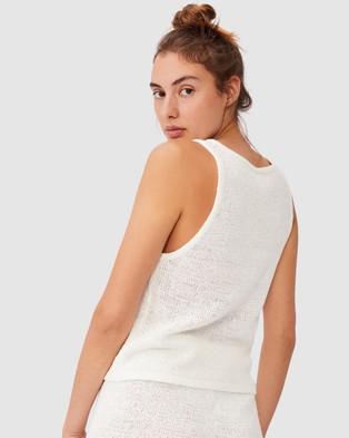 Cotton On Body - Summer Lounge Tank T-Shirts & Singlets (White)