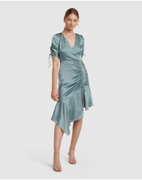 Forever New - Sally Satin Ruched Dress