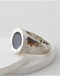 Icon Brand - Round Composite Stone Ring