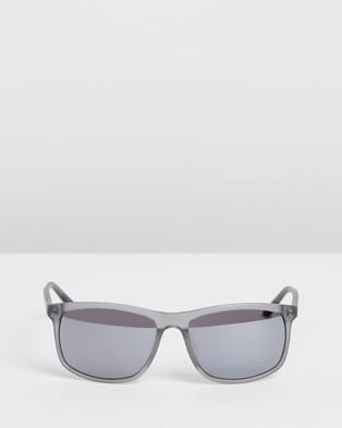 Nike Sun Lore CT8080 - Sunglasses (Matte Dark Grey, Black & Grey with Silver Flash)